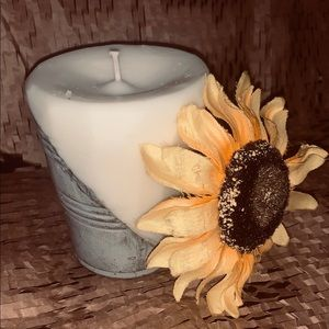 Cement Bottom Candles (unique candles)